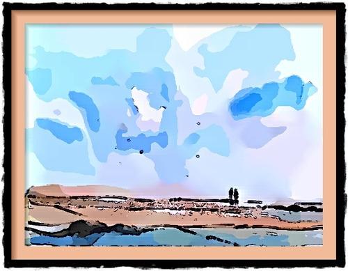 Dessin et peinture - vidéo 2473 : Comment peindre le ciel nuageux dans un paysage ? - tuto aquarelle humide sur humide, étape par étape.