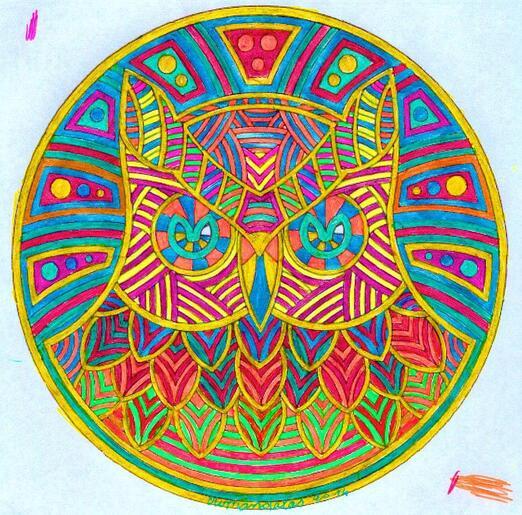 Mandala de la chouette 3eme version
