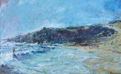 Dans les vagues de la côte sauvage