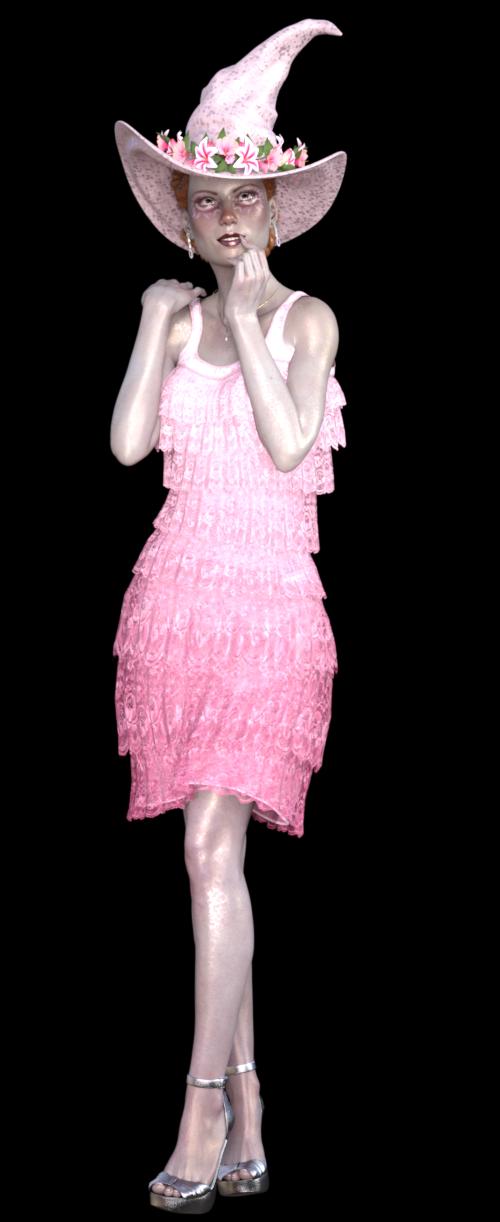 Tube de femme sorcière glamour (render)