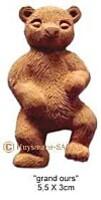 Broche grand-ours personnalisée pour fête, naissance, anniversaire - Arts et sculpture: sculpteur designer