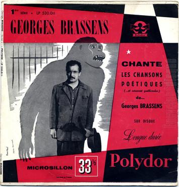 Georges Brassens, 1952 premier 78t et 1954 premier LP