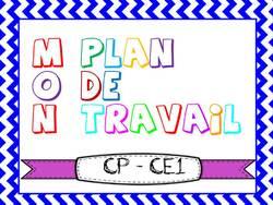 PLANS DE TRAVAIL CP ET CE1 : PERIODE 5