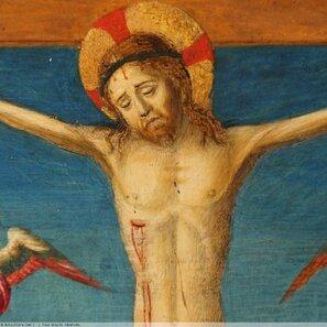 Crucifixion- peinture Italienne du XVe siècle