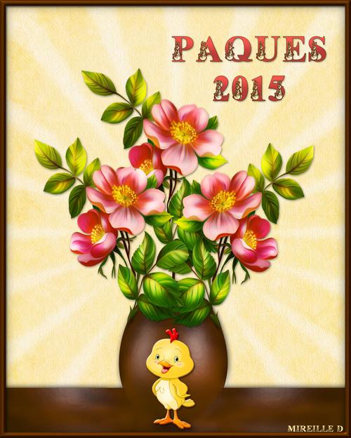 Carte Oeuf de Pâques Fleuri