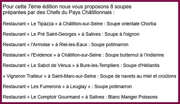 """""""La soupe des Chefs"""" concoctée par le Lions Club, sera proposée samedi 16 janvier 2021 au marché !"""
