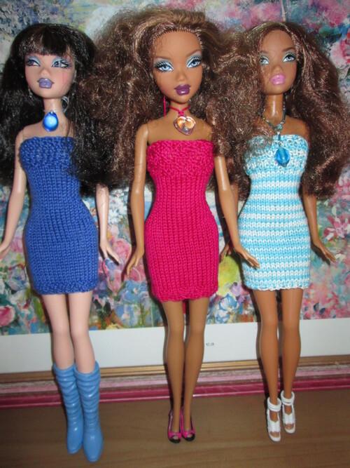Robe bustier et collier pour barbie