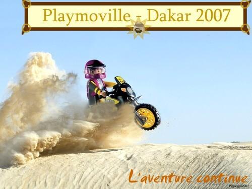 Moto dans le désert