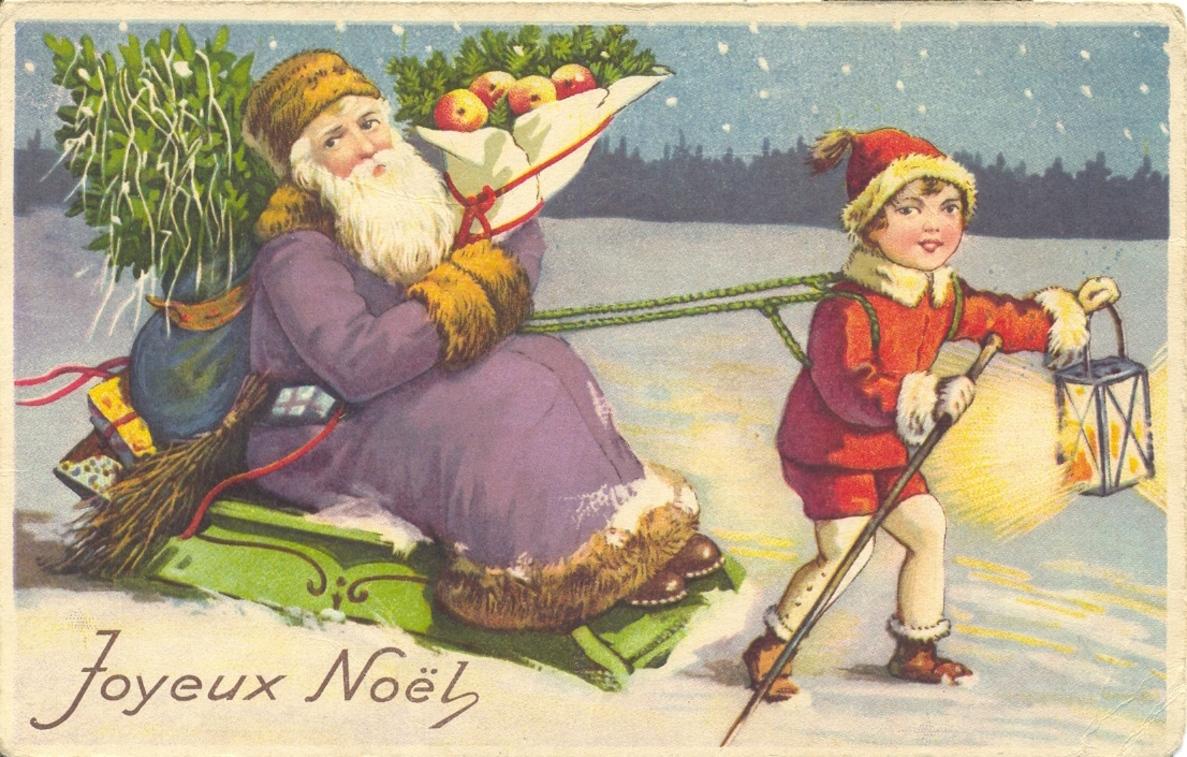 Cartes postales anciennes de Noël