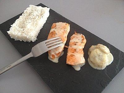 pavé de saumon coco/banane