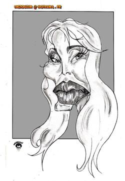 Arielle Dombasle_Mezouzaï caricature