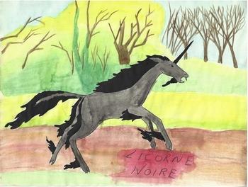 11 Licorne noire
