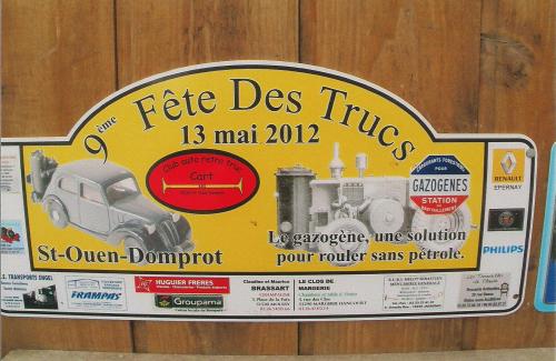 Plaques de Rallye 2012