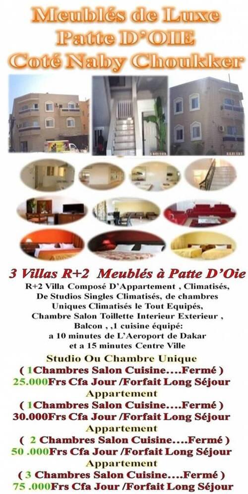 Meublé Dakar Centre-Banlieue & Petite Cote Sénégalaise 77 269 01 51