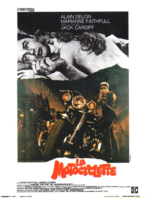 LA MOTOCYCLETTE - BOX OFFICE ALAIN DELON 1968