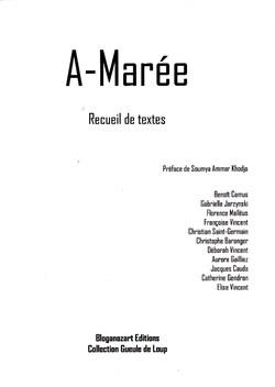 A-Marée, un recueil chez Bloganozart