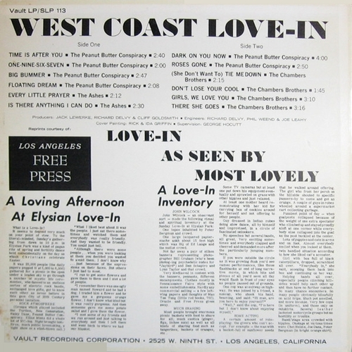"The Chambers Brothers : "" West Coast Love-In "" Vault Records SLP-113 [ US ]"