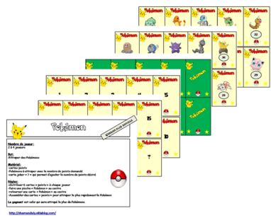 Jeu calcul mental rapide plus difficile: Pokémon
