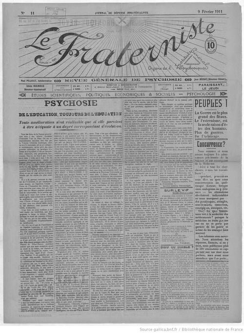 Le Fraterniste (9 février 1911)