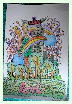 Coloriage de Sabine et Martine