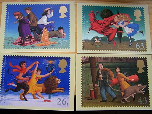 cartes timbres GB claire deb oct 2011