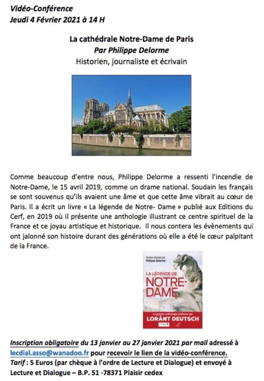 Vidéo-conférence sur Notre Dame de Paris - Philippe Delorme