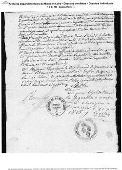 La Baïonnette royale N° 5, Pierre Durand, de Saint-André-de-la-Marche....