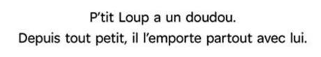 """Affichage pour le dortoir des """"doudous"""""""
