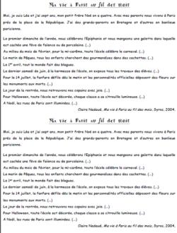 Grammaire Picot CE1 - textes, transposition, exercices - Période 5