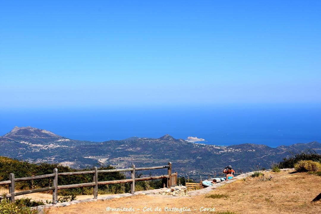 Vue depuis le col de Battaglia - Corse
