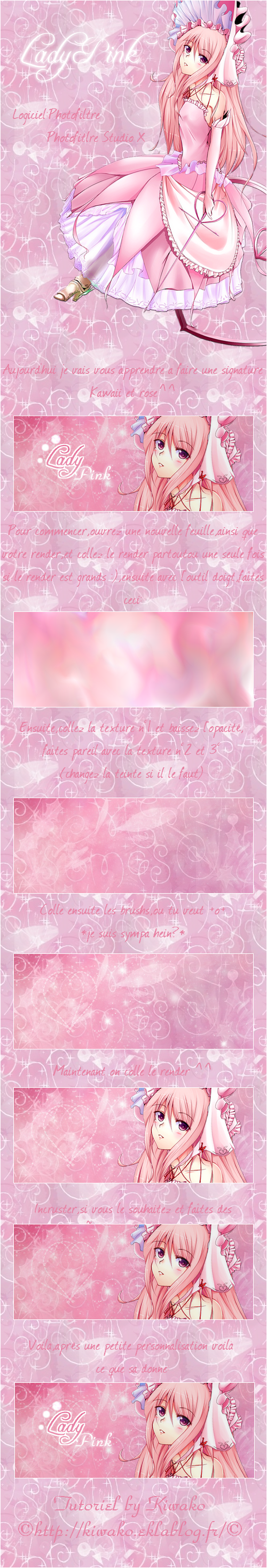 Tutoriel Signature Lady Pink