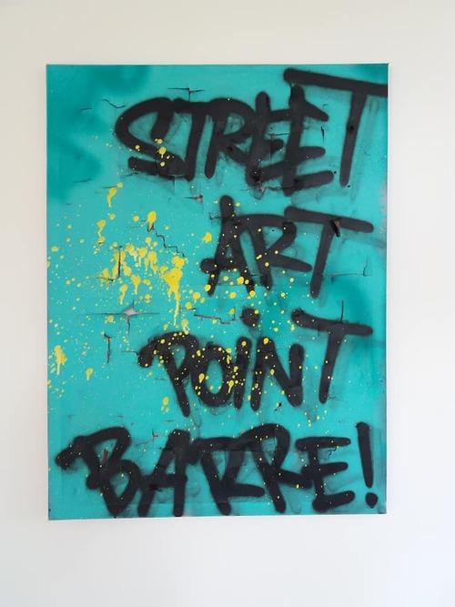 "80x60cm. ""Street Art Point Barre"""