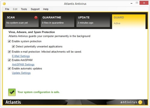 Atlantis Antivirus - Licence 1 an gratuit