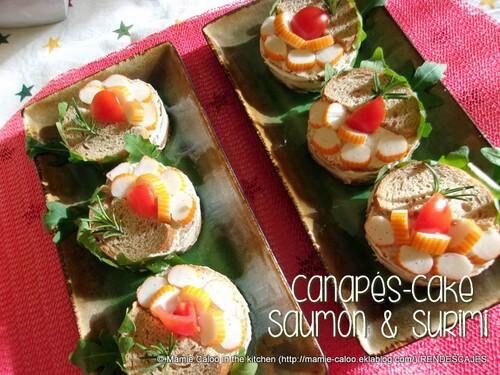 """Canapé-cake """"saumon & surimi"""""""