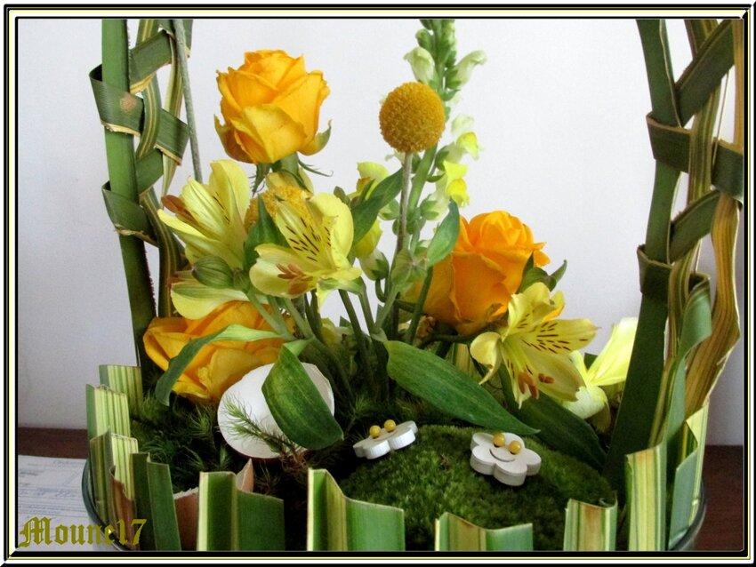Cours d'art floral du mois d'avril