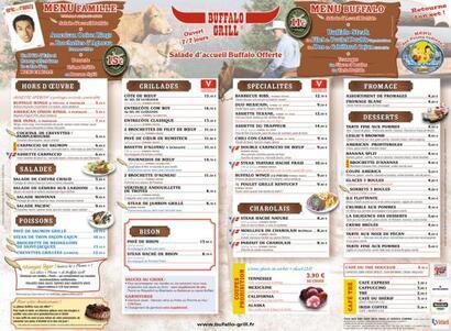 Buffalo Grill Carte Boisson.Buffalo Grill Diner Chryst