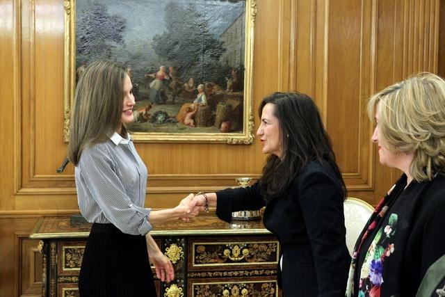 Letizia reçoit