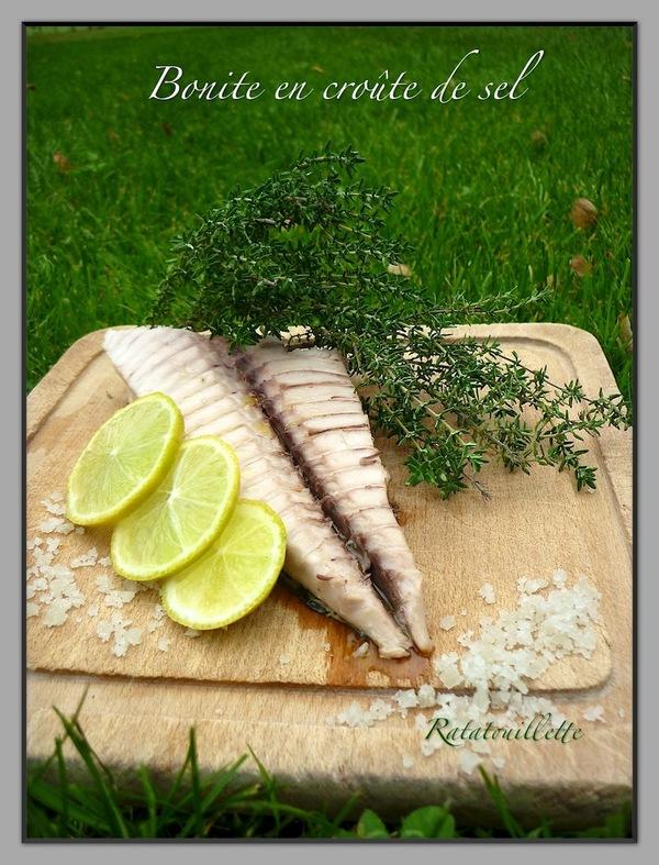 Bonite en crôute de sel