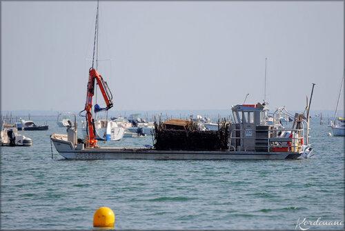 Bateaux sur le Bassin d'Arcachon (Lège-Cap Ferret)