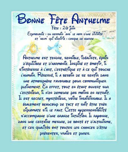 Carte Bonne Fête Anthelme - 26 juin - Balades comtoises