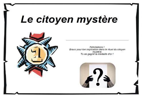 Citoyen mystère : docs complémentaires (fiche de suivi des points et diplômes)