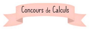 Concours de calculs CP