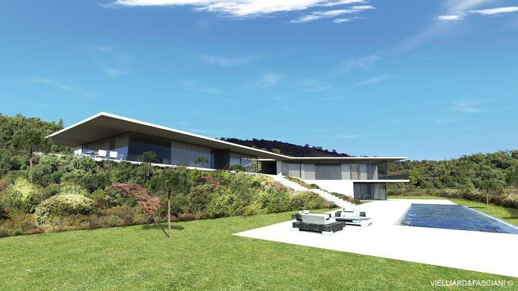 villas modernes sur la cote dazur cannes saint tropez antibes - Maison Moderne Antibes