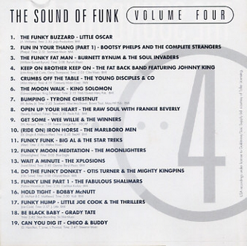 "Various Artists : CD "" The Sound Of Funk 4 "" Goldmine Soul Supply Records GSCD28 [ UK ]"