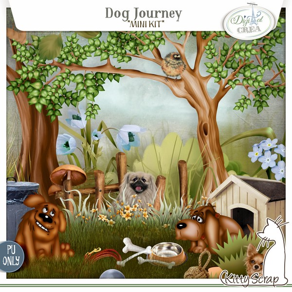 mini kit Dog Journey de kittyscrap
