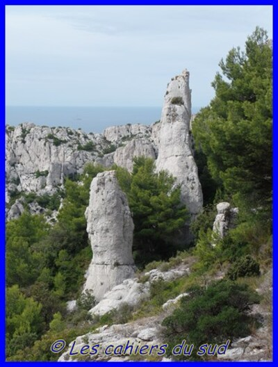 Calanques, Le rocher st Michel