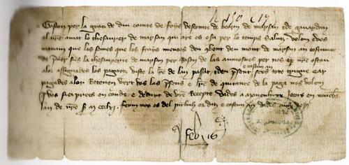 Signé Fébus, comte de Foix, prince de Béarn sous la direction de Véronique Lamazou-Duplan