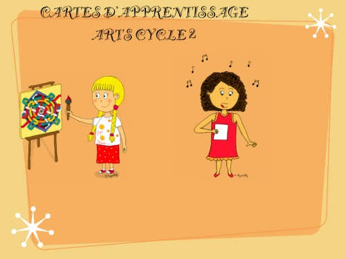 Programmation et progression arts cycle 2 : cartes d'apprentissage