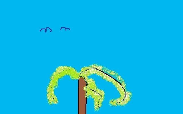 un arbre avec des oiseaux