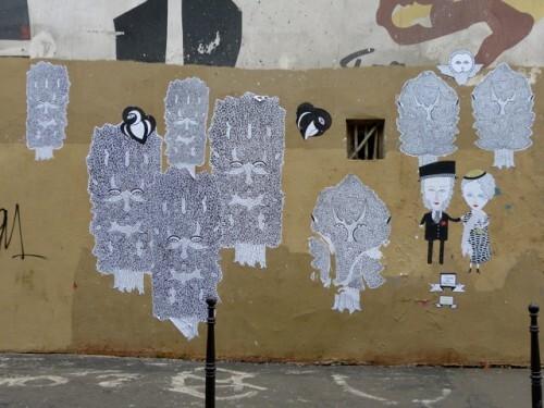 street-art Le Chevalier fresque 1